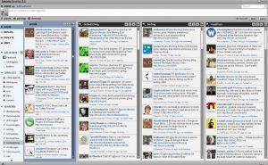 Seesmic desktop with search columns. Click on the image to see a larger format.