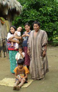 Shaman Mateo and his family at Centro Medicina Tradicional (CMT). Photo: Alex Duran