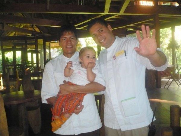 Barman Tony , waiter Sherlock and Anahi
